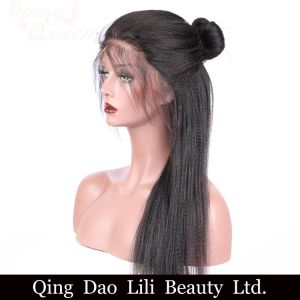 Italian Yaki Straight Lace Front Human Hair Wigs for Black Women Pre Plucked with Baby Hair pictures & photos