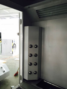 High Quality Water-Based Paint Spray Booth with Nozzles pictures & photos