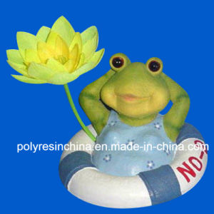 Polyresin Floating Frog, Resin Floating Animal pictures & photos