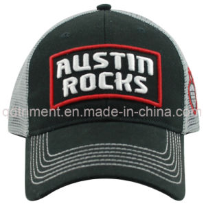 Silver Foil Print Metallic Thead Embroidery Snapback Trucker Cap (TRSDT05) pictures & photos