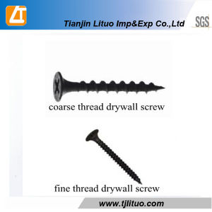Carbon Steel DIN18182 Black Phosphate Fine Thread Drywall Screw pictures & photos