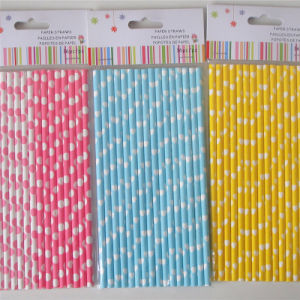 Eco-Friendly Paper Drinking Straws with Colorful Design pictures & photos