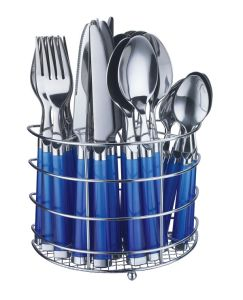 24PCS Plastic Handle Tableware Set pictures & photos