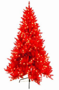 Beautiful Design Pre-Lit Red Christmas Tree