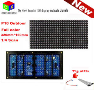 P10 Full Color Outdoor Programmable LED Scrolling Sign Message Board Display Module 320*160mm 32*16 Pixels DIP LED Module pictures & photos