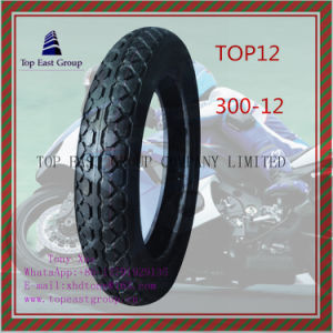 High Rubber Content ISO Nylon 6pr Motorcycle Tyre Size 300-12 pictures & photos