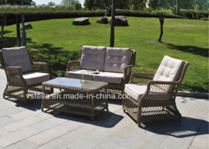 Tea Table&Chairs Outdoor Garden Steel Frame Rattan Furniture pictures & photos