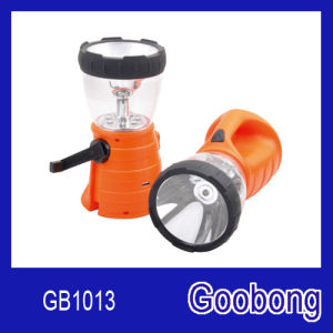 8LED Crank Dynamo USB Lantern Spotlight with Radio pictures & photos
