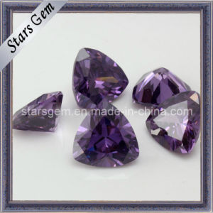 Amethyst Hearts and Arrow Trilliant Cut Synthetic Stone pictures & photos