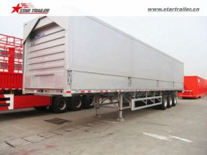 Open Wing Type Van Semi Trailer for Electronic Products pictures & photos