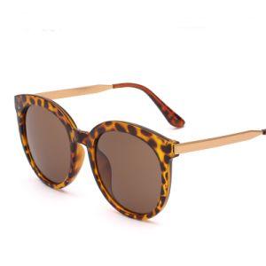 Latest Fashion Designer Plastic Women Sunglasses with Metal Temple (6803)
