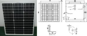18V 40W Monocrystalline Solar Panel PV Module with Ce Approved pictures & photos