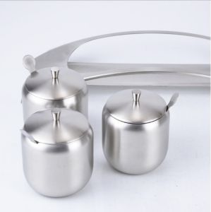 304 Stainless Steel Spice Jar Cruet with Spoon (JX-030) pictures & photos