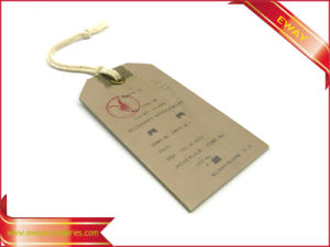 Kraft Printed Garment Hang Tag Men Sport Brand Tag pictures & photos