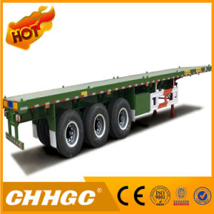 Chhgc Tri-Axle 3 Axle Flatbed Container Semi Trailer pictures & photos