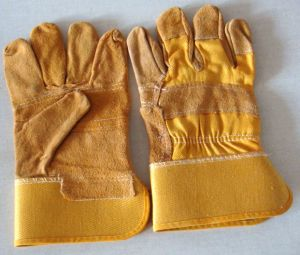 Safety Leather Working Gloves (WTWG004) pictures & photos