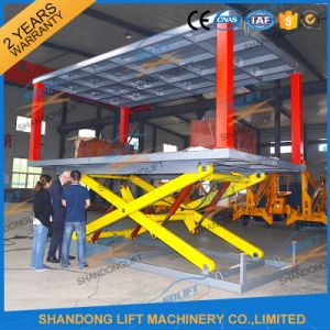 Electric Hydraulic Scissor Car Lift in Ground with TUV pictures & photos