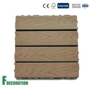 Capped Composite DIY Deck Tile Pre-Assembled on a Interlocking Base