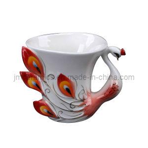 Enamel Porcelain Embossed Teacup