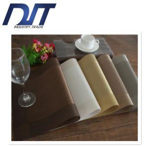 European Diagonal Frame Thermal Insulation Anti-Skid PVC Woven Placemat