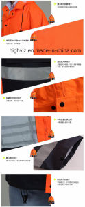 Reflective Safety Rain Jacket with ANSI107 Certificate (C2447) pictures & photos