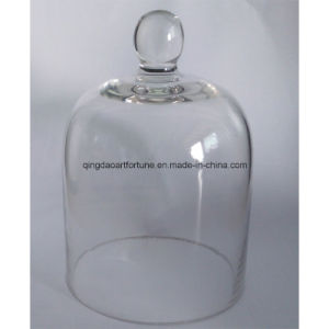 Metallic Glass Cloche Jar Candle with New Design pictures & photos