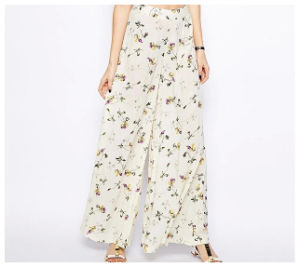 Casual Loose Cheap Custom Printed Wide Leg Pant Wholesale China pictures & photos