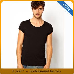 Wholesale Man Short Sleeve Black T Shirt pictures & photos