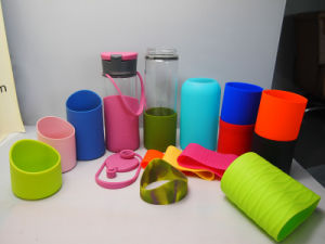 Custome FDA Silicone Cover Silicone Bottle Sleeve Wrap Hold for Thermos Flask Glass Bottle Kitchen Utensil