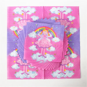 Disposable Party Napkin Paper with Little Girl Printed pictures & photos