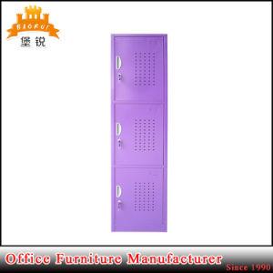 Metal Changing Room Furniture 3 Door Tier Steel Clothes Storage Locker Cabinet pictures & photos