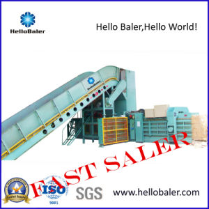Semi-Automatic Hydralic Waste Paper Baler Packing Machine Hsa4-7 pictures & photos