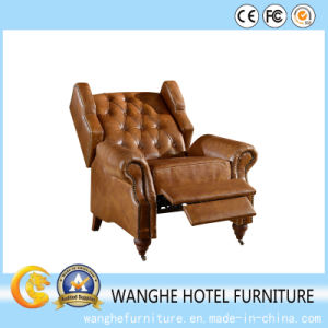 Royal Classical Chesterfield Sofa Unfixed Leather Chair for Living Room pictures & photos
