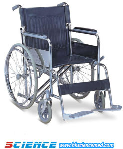 Heavy Duty Steel Wheelchair with Drop Back Handle (SC-SW12) pictures & photos