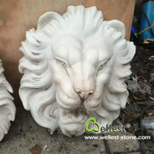 Chinese White Marble Stone Animal Lion Head Wall Fountain pictures & photos