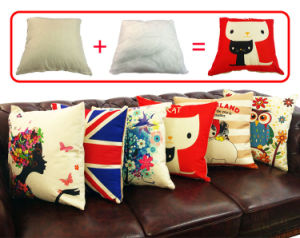 Sublimation Cotton Linen Pillow Case pictures & photos
