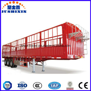 Factory Direct Price 3 Axles Two Storages Livestock Stake Utility Cargo Truck Semi Trailer for Cattle Transortation pictures & photos