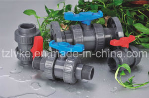 PVC Double Union Ball Valve for Irrigation with ISO9001 (BSPT/NPT) pictures & photos
