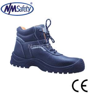 Nmsafety Steel Toe Cap Action Leather Safety Shoe pictures & photos