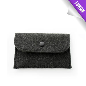 Grey Color Rectangle Felt Button Packing Bag pictures & photos