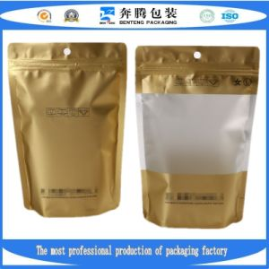 Stand up Transparent Laminated Food Pouch with Zip Lock/Plastic Packing Bag with Ziplock.