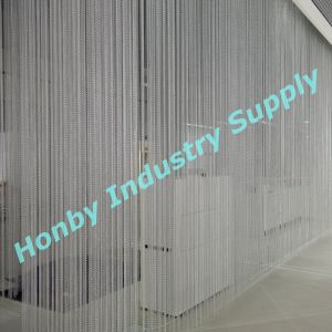 Shiny Silver Color Wall Covering Aluminum String Hanging Chain Curtain