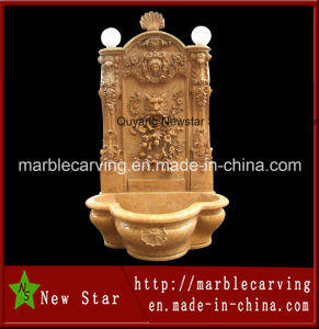 Hot Sale Stone Carving Wall Fountain for Decoration (NS-W003) pictures & photos
