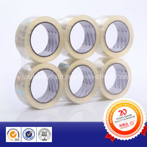 Flat Shrink Clear BOPP Adhesive Packing Tape pictures & photos