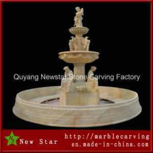 Beige Stone Granite Marble Carved Fountain (NS-1202) pictures & photos