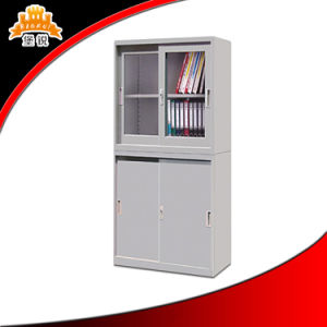 Glass Sliding Door Metal File Cabinet pictures & photos