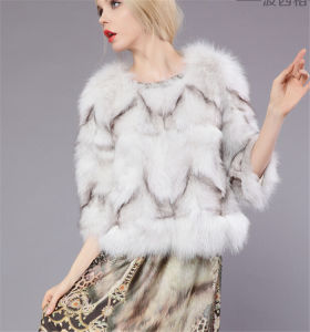 Loss Sale Women Short Style Genuine Fox Fur Coat (Qy-C45) pictures & photos