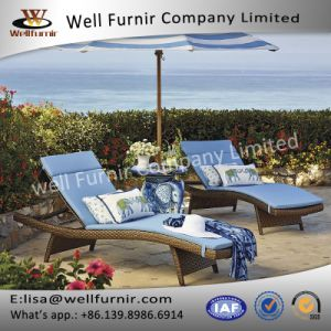 Well Furnir Lover Seat Set of Two Original Bronze Chaise Lounge Beds pictures & photos
