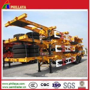 20FT 40FT Container Transport Steel Skeleton Truck Semi Trailer Chassis pictures & photos