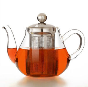 Mouth Blowing Borosilicate Glass Stainless Steel Filter Water Kettle pictures & photos